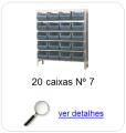 estante metalica porta componentes para 20 caixas plasticas bin numero 7