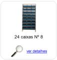 estante metalica porta componentes para 24 caixas plasticas bin numero 8