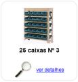 estante metalica porta componentes para 25 caixas plasticas bin numero 3