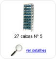 estante metalica porta componentes para 27 caixas plasticas bin numero 5