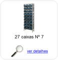 estante metalica porta componentes para 27 caixas plasticas bin numero 7