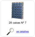 estante metalica porta componentes para 28 caixas plasticas bin numero 7