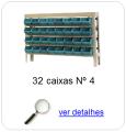 estante metalica porta componentes para 32 caixas plasticas bin numero 4