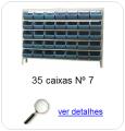estante metalica porta componentes para 35 caixas plasticas bin numero 7
