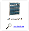 estante metalica porta componentes para 40 caixas plasticas bin numero 8