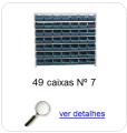 estante metalica porta componentes para 49 caixas plasticas bin numero 7