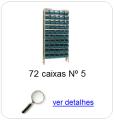 estante metalica porta componentes para 72 caixas plasticas bin numero 5