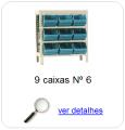 estante metalica porta componentes para 9 caixas plasticas bin numero 6