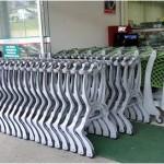 carrinhos de supermercado encaixados
