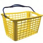 cesto plastico amarelo
