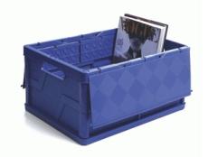 caixa dobravel fechada com tampa azul