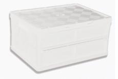 caixa dobravel fechada com tampa branca