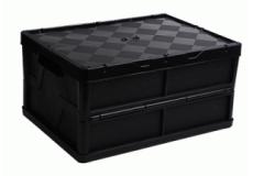 caixa dobravel fechada com tampa preta