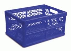 caixa dobravel vazada azul