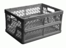 caixa dobravel vazada cinza