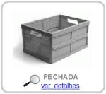 caixa dobravel vazada fechada