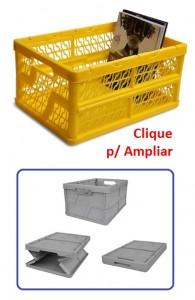 caixa dobravel vazada platica