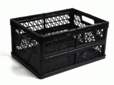 caixa dobravel vazada preta