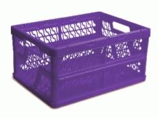 caixa dobravel vazada roxa