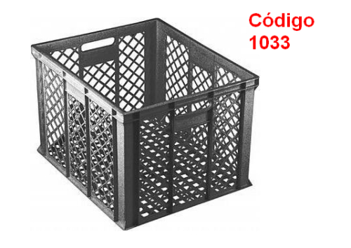 caixas plasticas vazadas 1033