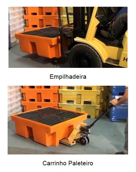empilhadeira ou carrinho paleteiro