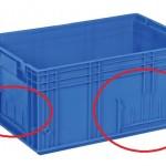 caixa klt com porta etiquetas