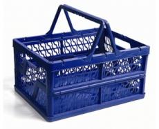 caixa dobravel com alca azul
