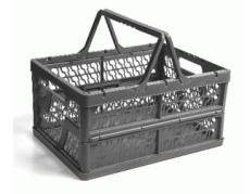 caixa dobravel com alca cinza
