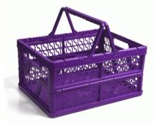 caixa dobravel com alca roxa