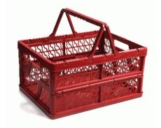 caixa dobravel com alca vermelha