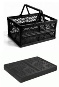 caixa plastica dobravel com alca