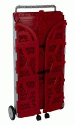 carrinho com caixas dobraveis fechado vermelho