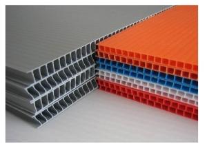 placa de plastico corrugado