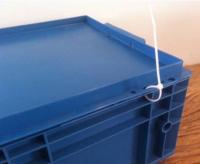 caixa plastica industrial 343 344 com furacao para lacre