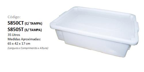 Caixa Plástica Organizadora 35 litros