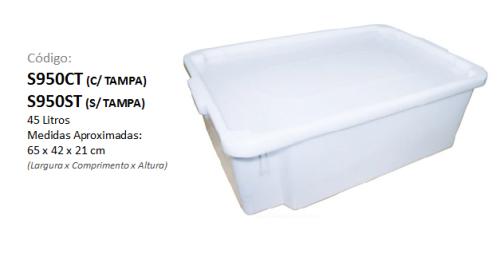 Caixa Plástica Organizadora 45 litros