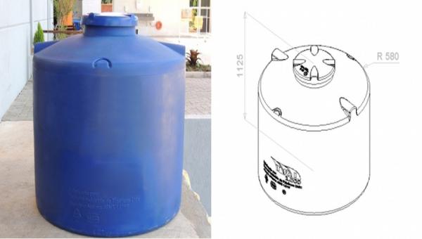 cisterna 1000 litros desenho tecnico