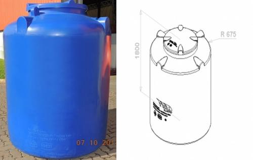 cisterna 2000 litros desenho tecnico