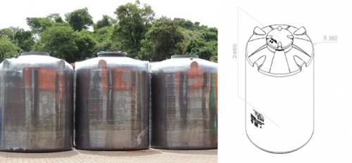 cisterna 5000 litros desenho tecnico