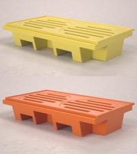 pallet de contencao laranja ou amarelo