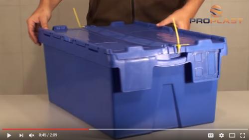 caixa plastica com lacre lacravel alc com tampa acoplada