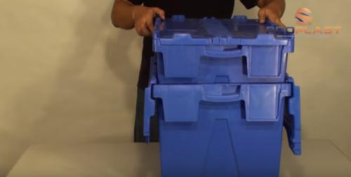 empilhamento caixa alc com tampa acoplada
