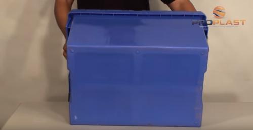 fundo liso uso em esteiras caixa plastica alc com tampa acoplada