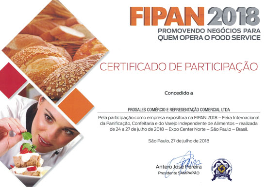 Fispan 2018 Certificado - Proplast
